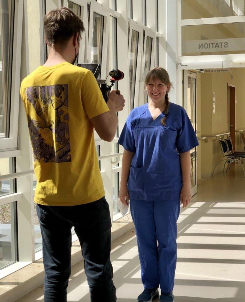Videodreh mit Eva Rotter, Ärztin in Weiterbildung