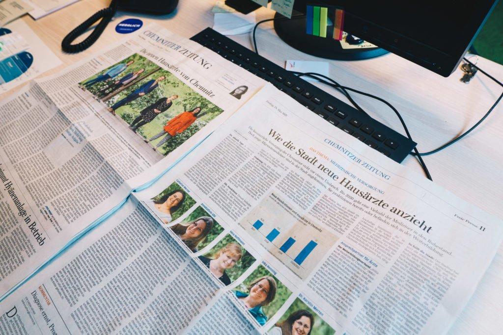 Freie Presse Artikel Hausärzte 25. und 26. Mai 2021